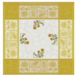 DMC - Yellow Tablecloth with Sunflowers