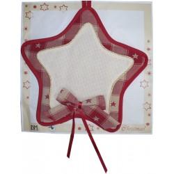 Decoración para Puerta para Bordar a Punto de Cruz - Estrella de Navidad