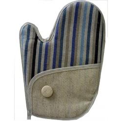 Oven Glove - Blue Linen