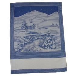 Fratelli Graziano - Christmas Dishtowels Refuge - Blue