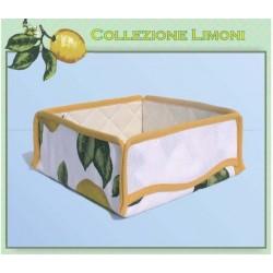 Portapane Ricamabile a Punto Croce - Fantasia Limoni