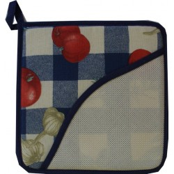 Blue Square Potholder - Tomatoes