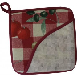 Red Square Potholder - Tomatoes
