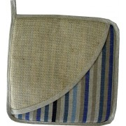Square Potholder - Blue Lines