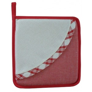 Presina Quadrata da Ricamare - Rossa
