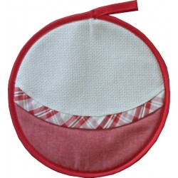 Round Poth Holder - Red