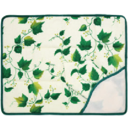 Individual Palcemat - Ivy with a Beige Background