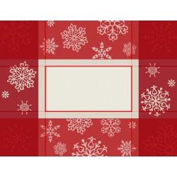 Mantel Individual con Servilleta para Navidad - Copos de Nieve