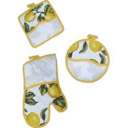 Potholders and Oven Gloves Ready to Stitch - Fancy Lemons