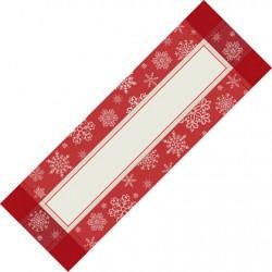 Camino de Mesa para Navidad - Copos de Nieve - Mide 42x128 cm