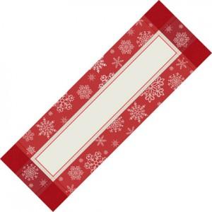 Striscia Natalizia - Fiocchi di Neve - Dimensione 42x128 cm