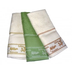Set Terry Dish Towels Viviana - Herbs - Green