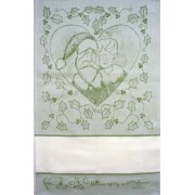 Fratelli Graziano - Christmas Dish Towel - Mom & Dad - Green
