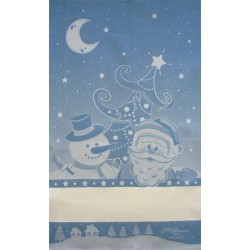 Fratelli Graziano - Christmas Dish Towel - Frost - Color Light Blue