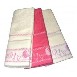 Set Terry Dish Towels Viviana - Bon Appetit Fuxia