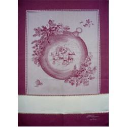Fratelli Graziano - Christmas Dish Towels Gressoney - Bordeaux and Gold