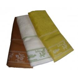 Set Terry Dish Towels Viviana - Herbs - Mustard