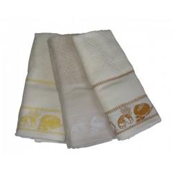 Set Terry Dish Towels Viviana - Bread - Cream