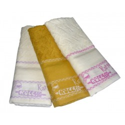 Set Terry Dish Towels Viviana - Rocc Rattle Mustard