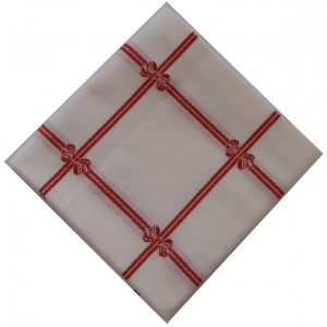 Ready to Stitch Christmas Tablecloth - Red Bows