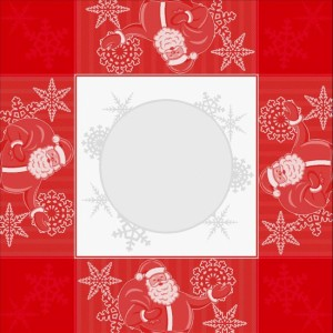 DMC Tovaglietta da Té Ricamabile - Babbo Natale