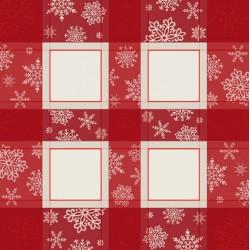 Christmas Tea Tablecloth Snowflakes - 90x90 cm
