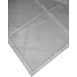 Mantel con Rosas - Color Blanco - 100x100 cm