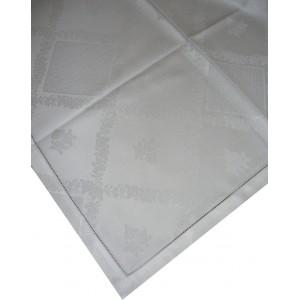 Tovaglietta da Té con Rose - Colore Bianco - 100x100 cm