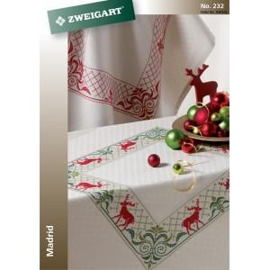 Zweigart - Tovaglia Madrid da Ricamare - Dimensioni 90 x 90 cm