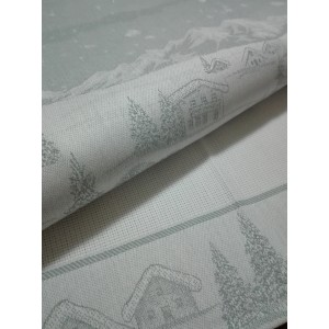 Pearl Grey Christmas Kitchen Towel - Winter Landscape