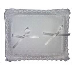 Cuscino Portafedi Rettangolare - Bianco