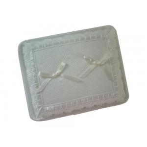 Cuscino Portafedi da Ricamare - Rettangolare Panna