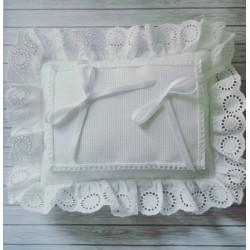 Cuscino Portafedi Sangallo Rettangolare - Bianco