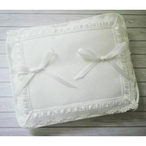 Cuscino Portafedi da Ricamare - Rettangolare Bianco