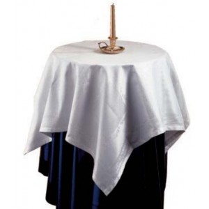 Tea Tablecloth Madrid - White 95x95 cm
