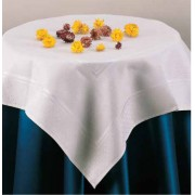 Stitchable Damask Tablecloth - Little Dots - Size 82x82 cm