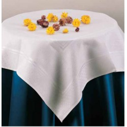 Stitchable Damask Tablecloth - Little Dots - Size 82x82 cm
