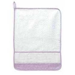 DMC -  Kindergarden Towel - Ready to Stitch - Lilac - Art. RS2127