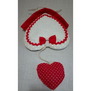 Christmas Cross Stitch Door Wreath - Heart