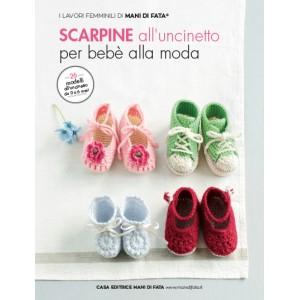 Rivista Mani di Fata - Scarpine all' Uncinetto per Bebè alla Moda