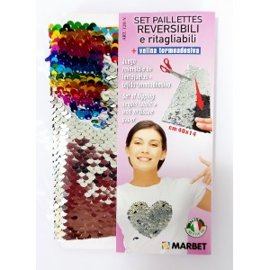 Set of Flipping Sequin Fabric with Iron on Tissue Paper