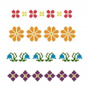 Cross Stich Pattern - Easy Borders