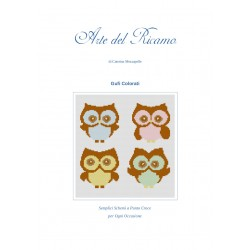 Cross Stich Pattern - Little Owls
