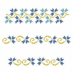 Cross Stich Pattern - Floral Border