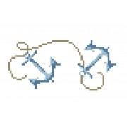 Cross Stitch Chart - Edging with Anchors
