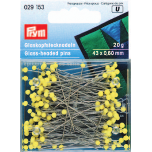 Prym - Yellow Glass Headed Pins