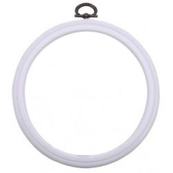 DMC Cornice Telaio Rotonda da 17,5 cm - Colore Bianco