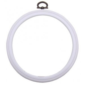 DMC White Round Flexi Hoops - 17,5 cm