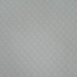 Interlock Fabric Rhombus White - Width 160 cm