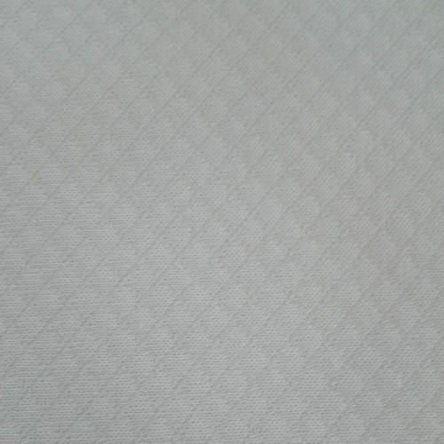 Tessuto Interlock Rombetto Bianco - Altezza 160 cm